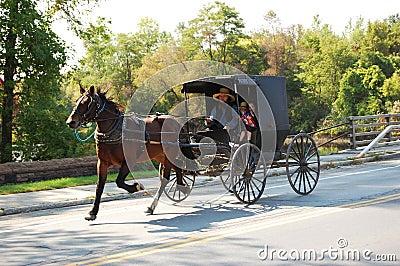 Amish Travel Editorial Stock Image