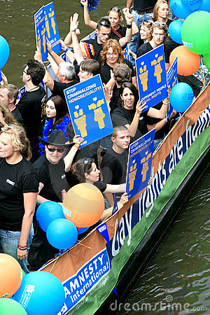 Amnesty International during Canal Parade 2008 Editorial Image