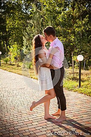 Amor e afeição entre um par novo
