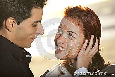 Amore ed affetto fra una giovane coppia