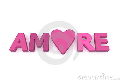 Amore with Heart in Pink/Purple