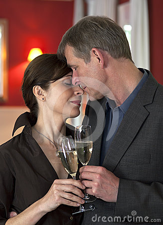 Amorous Couple On Romantic Date