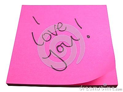 Amorous note