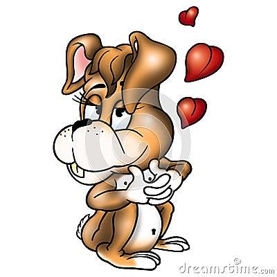 Amorous rabbit