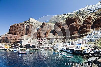 Amoudi port oia  santorini greek island