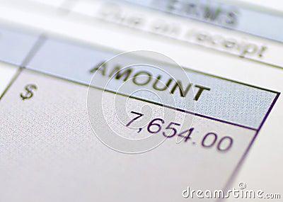 Bill Amount owed