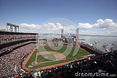 Бейсбольный стадион AT&T, Сан-Франциско Редакционное Фотография