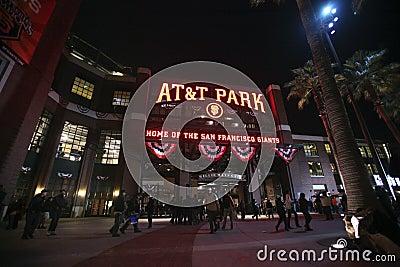 AT&T-Baseballstadion, San Francisco Redaktionelles Stockfotografie