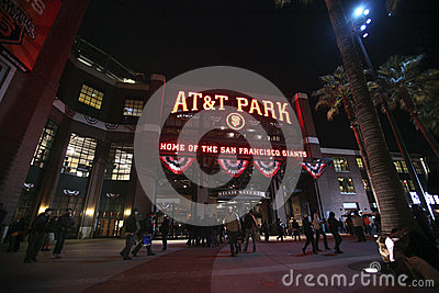 AT&T boisko, San Fransisco Fotografia Editorial