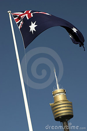 AMP Tower and Flag, Sydney