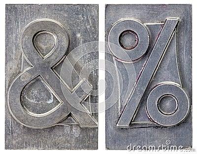 Ampersand and percent symbols