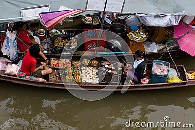 Amphawa Floating Market Editorial Photography