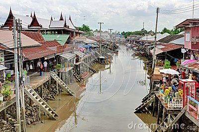 Amphawa Floting Market in Thailand Editorial Photography