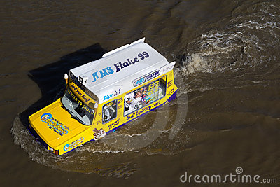 Amphibious Van Editorial Photo