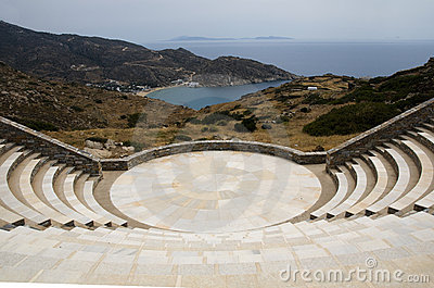 Amphitheater Milopotas beach Ios Greece