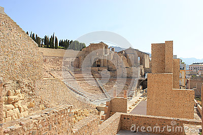 Amphitheater ruins in cartagena, spain
