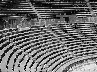 Amphitheatre auditorium, Bosra