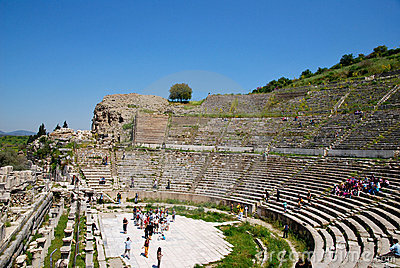 The amphitheatre of Ephesus