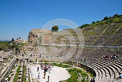 The amphitheatre of Ephesus