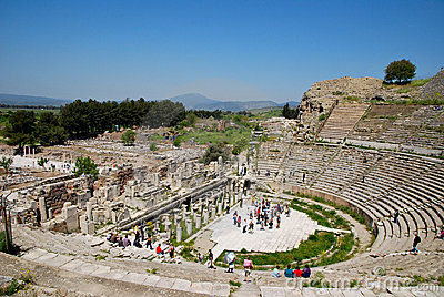 In the amphitheatre of Ephesus