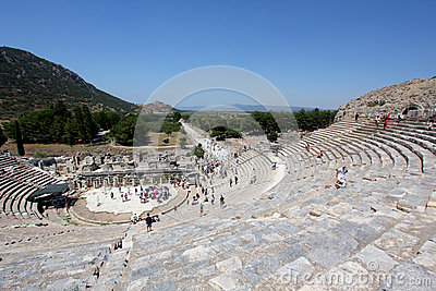 Amphitheatre at Ephesus Editorial Stock Photo