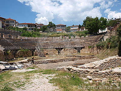 Amphitheatre, Ohrid, Macedonia Editorial Stock Image