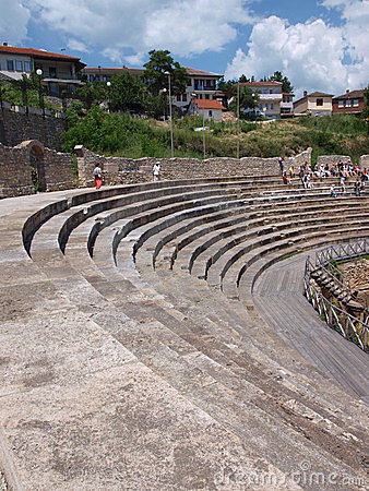 Amphitheatre, Ohrid, Macedonia Editorial Photography