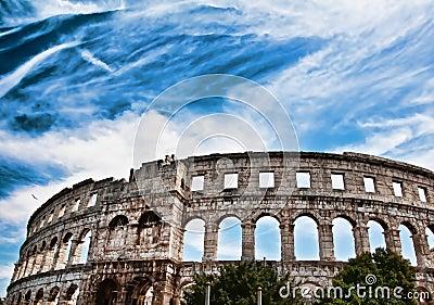 Amphitheatre in Pula,Croatia