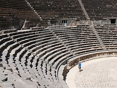 Amphitheatre, rows of seats