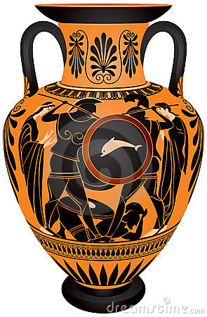 Amphora, batalha antiga do Hoplite de Greece