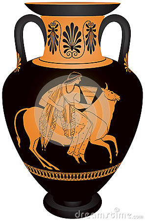Free Amphora Europa And The Bull Royalty Free Stock Image - 43351486