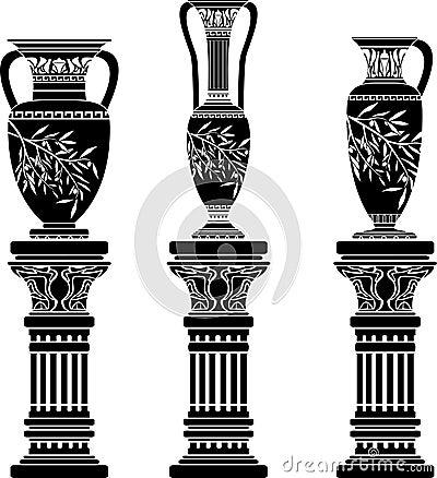 Amphoras and jug