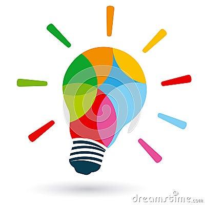 ampoule color e lumineuse images stock image 37235604. Black Bedroom Furniture Sets. Home Design Ideas