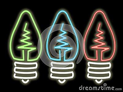 Ampoules de lampe au néon