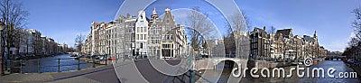 Amsterdão Keizersgracht-Leidsegracht em Holland