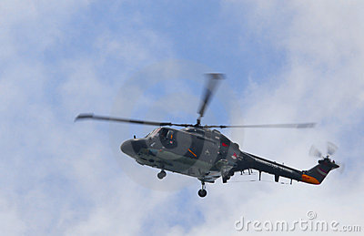 Amsterdam , 20-aug-2010, Westland lynx helicopter Editorial Stock Image