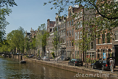 Amsterdam canal Editorial Stock Image