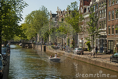 Amsterdam canal Editorial Photography