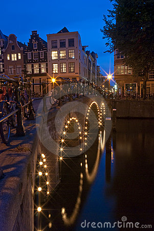 Free Amsterdam At Night 3 Stock Photo - 16809530