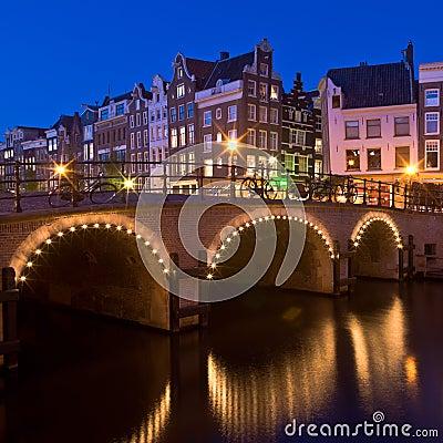 Free Amsterdam At Night Royalty Free Stock Image - 8492336