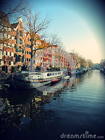 Free Amsterdam Canal Stock Images - 27624354