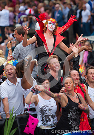 Amsterdam Canal Parade 2012 Editorial Photo