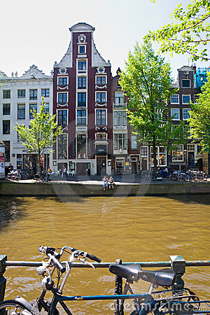The Amsterdam canal system Editorial Photography