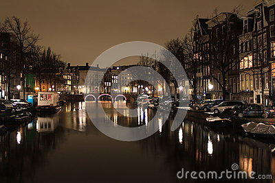 Amsterdam canals Editorial Stock Image