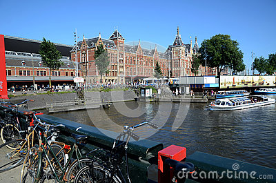 Amsterdam Central station Editorial Photography