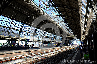 Amsterdam central station Editorial Image
