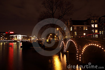 Amsterdam at christmas in the Netherlands