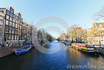 Amsterdam city view Editorial Stock Image