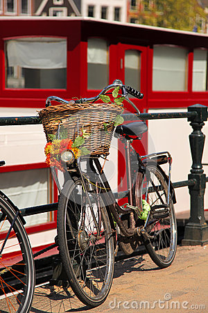 Free Amsterdam City With Bike In Holland Royalty Free Stock Photos - 30811938