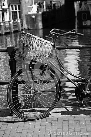 Free Amsterdam City With Bike In Holland Stock Image - 31359451
